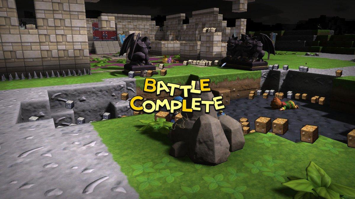 ラダトーム城を再構築、と思ったらモンスターがやってきてぶっつぶされる