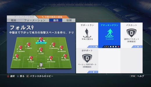 【FIFA19】フォルス9とは?「偽9番」と呼ばれるFWが中盤まで下りてくる戦術